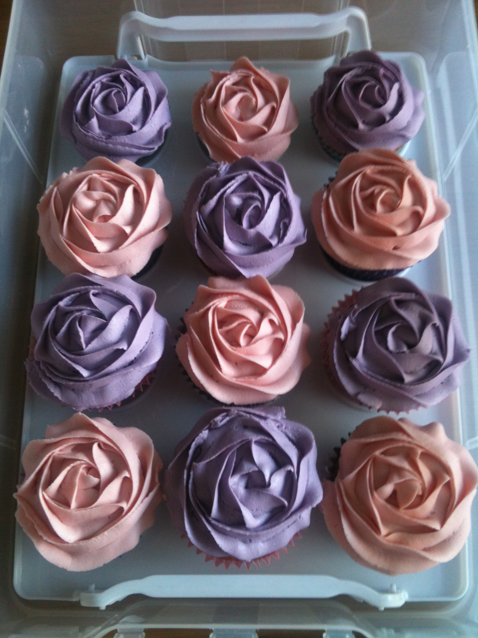 Displaying 19> Images For - Pink And Purple Baby Shower Cupcakes...